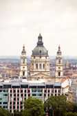 Cityscape Budapest Hungary with St. Stephen's Cathedral — Stock Photo