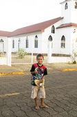 Maïs baseball éditoriale garçon native island nicaragua — Photo