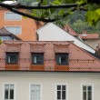 Stock Photo: Medieval architecture building on Ljubljanicriver