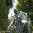 Stock Photo: Fountain sculpture in park, Vienna, Austria