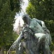 Fountain sculpture in the  park, Vienna,  Austria — Stock Photo
