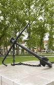 Anchor Monument in Congress Square Park Ljubljana Slovenia — Stock Photo