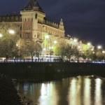 Historic building on Vltava River — Stock Photo #46347555