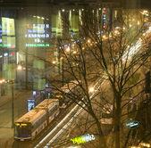 Pavia street köpcentrum nattscen — Stockfoto