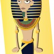 Funny Tutankhamen - Stock Vector