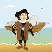 Christopher Columbus — Stock Vector