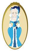 Funny Marie Antoinette — Stock Vector