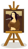 Mona Lisa Easel — Stock Vector