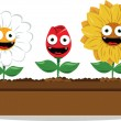 Funny flowers — Stock Vector #12710068