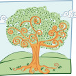 Royalty-Free Stock Vector Image: Marker Effect Tree