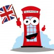 Постер, плакат: Funny English telephone