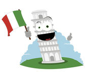 Funny Leaning Tower of Pisa — Stock Vector