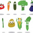 Stock Vector: Funny Vegetables