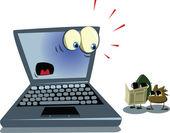 Spyware viruses — Stock Vector