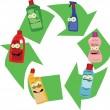 Recycling Plastic Containers — Stockvektor