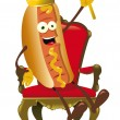 Hot Dog King — Stock Vector