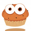 Funny Muffin — Stock Vector