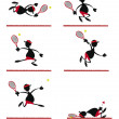 Funny Tennis Player - Stock Vector