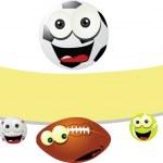 Funny Balls Banner — Stock Vector #14034696