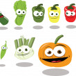 Stock Vector: Funny Vegetables part 2