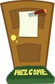 Mes en deur — Stockvector