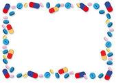 Cadre de pilules colorées — Vecteur