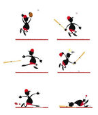 Funny Baseball Player — Stock Vector