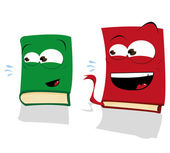 Two Laughing Books — Stock Vector