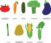 Group of Vegetables — Stock Vector
