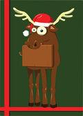 Christmas Reindeer — Stock Vector