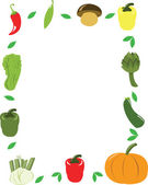 Vector Vegetables Frame — Stock Vector