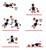 Funny Basket Player — Stock Vector
