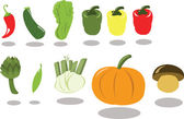 Group of Vegetables part 2 — Stock Vector