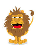Cute Lion and a Blank Sign — Stock Vector