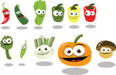 Funny Vegetables part 2 — Stock Vector