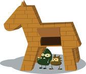 Trojan horse — Stock Vector