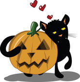 Halloween Kitten — Vettoriale Stock