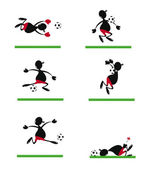 Funny Soccer Player — Stock Vector