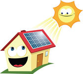 Funny Solar Panel — Stock Vector