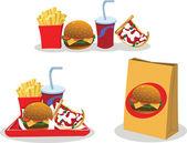 Kant-en klaarmaaltijden om voedsel — Stockvector