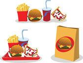 Take away food — Stock Vector