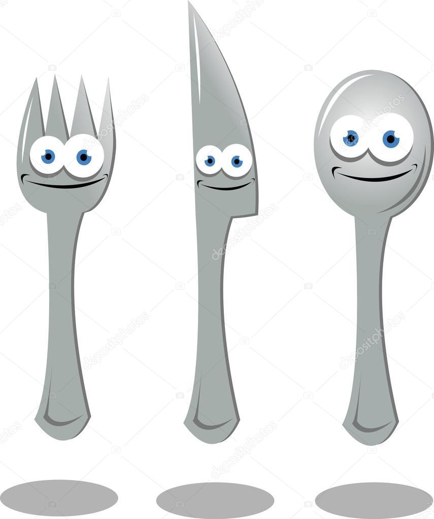 Cartoon Fork An...