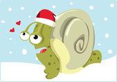 Caracol de navidad — Vector de stock
