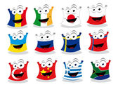 Funny Flags - Part I — Stock Vector