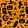 Stock Photo: Seamless halloween background