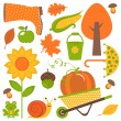 Stock Vector: Autumn set