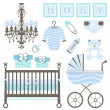 Baby boy set — Stockvektor  #12849225