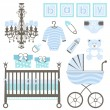 baby boy set — Stockvektor