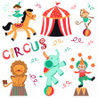 Cute circus set — Stock Vector #12849252