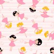 Cute ballerinas seamless pattern — Stock Vector #12849263